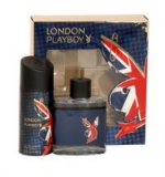 PLAYBOY London Dárková sada EDT 100 ml a deospray London 150 ml - 100ml
